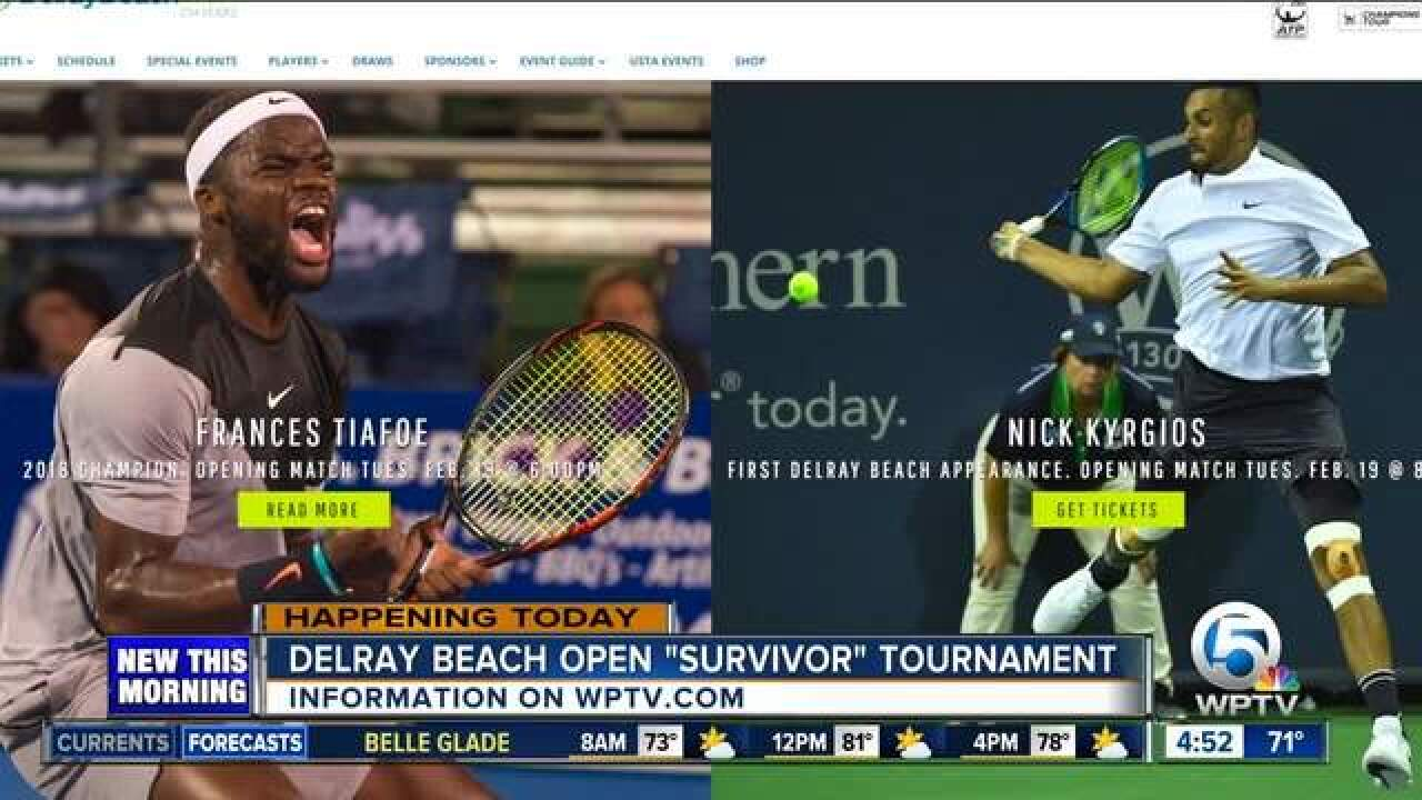 Pre-qualifying wildcard tennis tournament held for Delray Beach Open