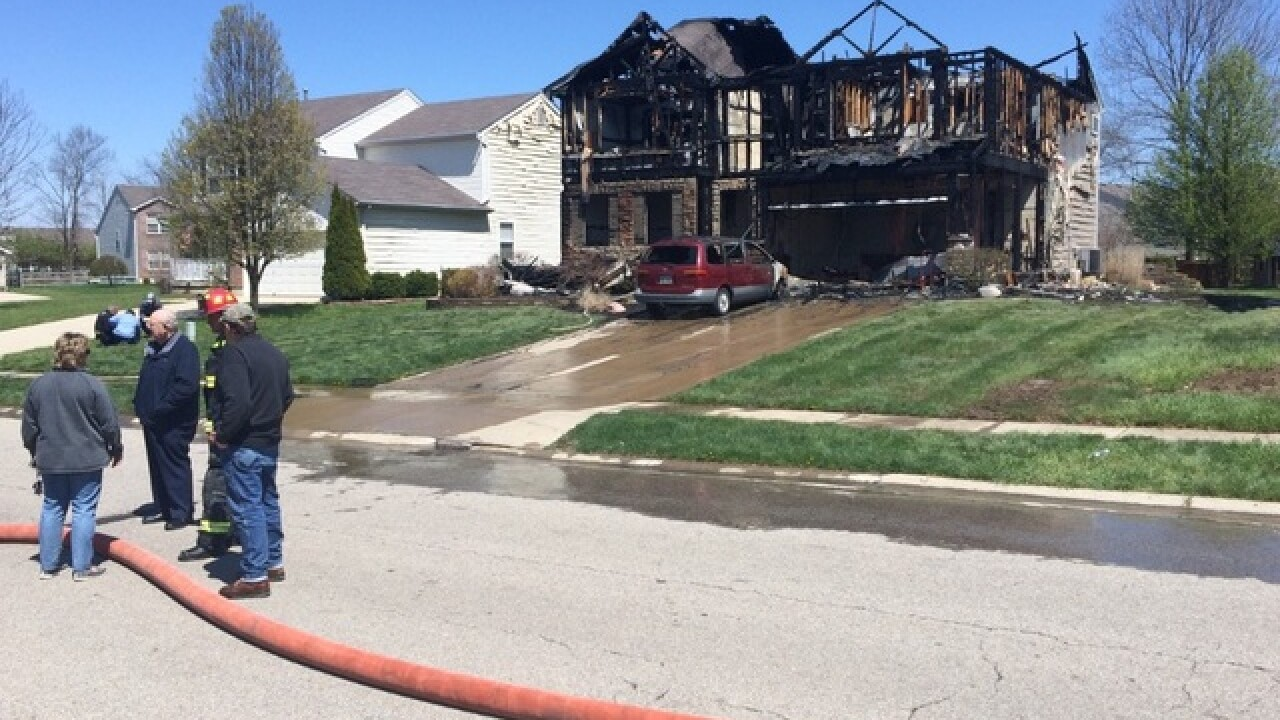 FD: Textbooks ablaze caused serious house fire