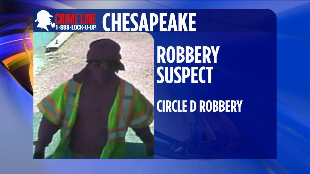 Chesapeake Police need help identifying robberysuspects