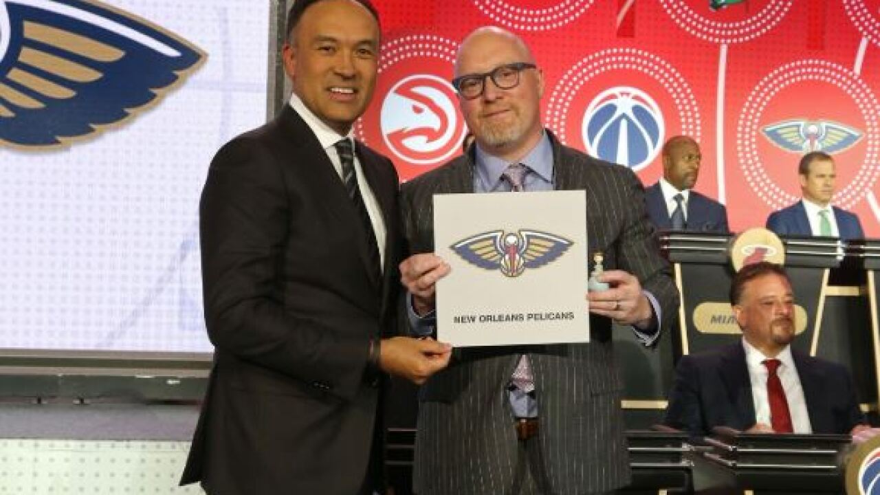 David GRiffin Pelicans NBA Draft Lottery 2019