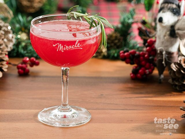 Drinks at the Christmas pop-up bar