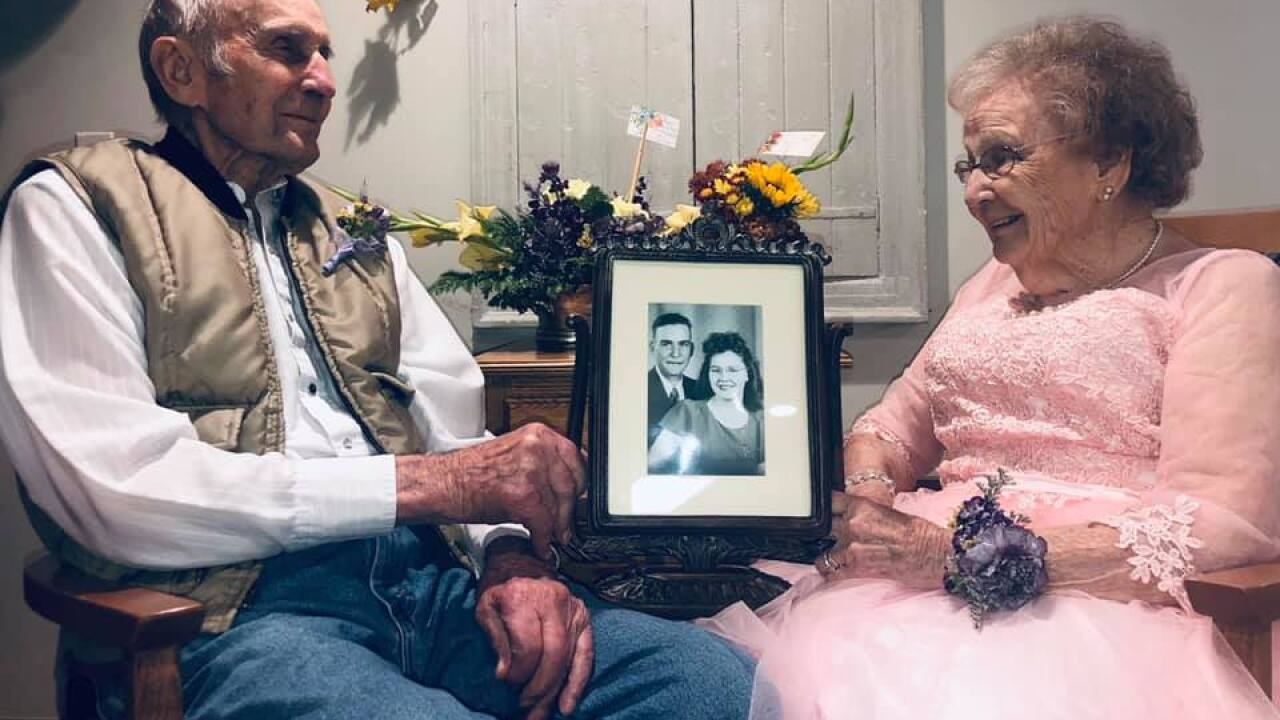 Photo shoot captures love of couple celebrating 72nd wedding anniversary