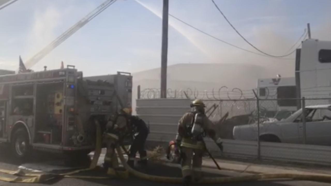 Sherman street structure fire