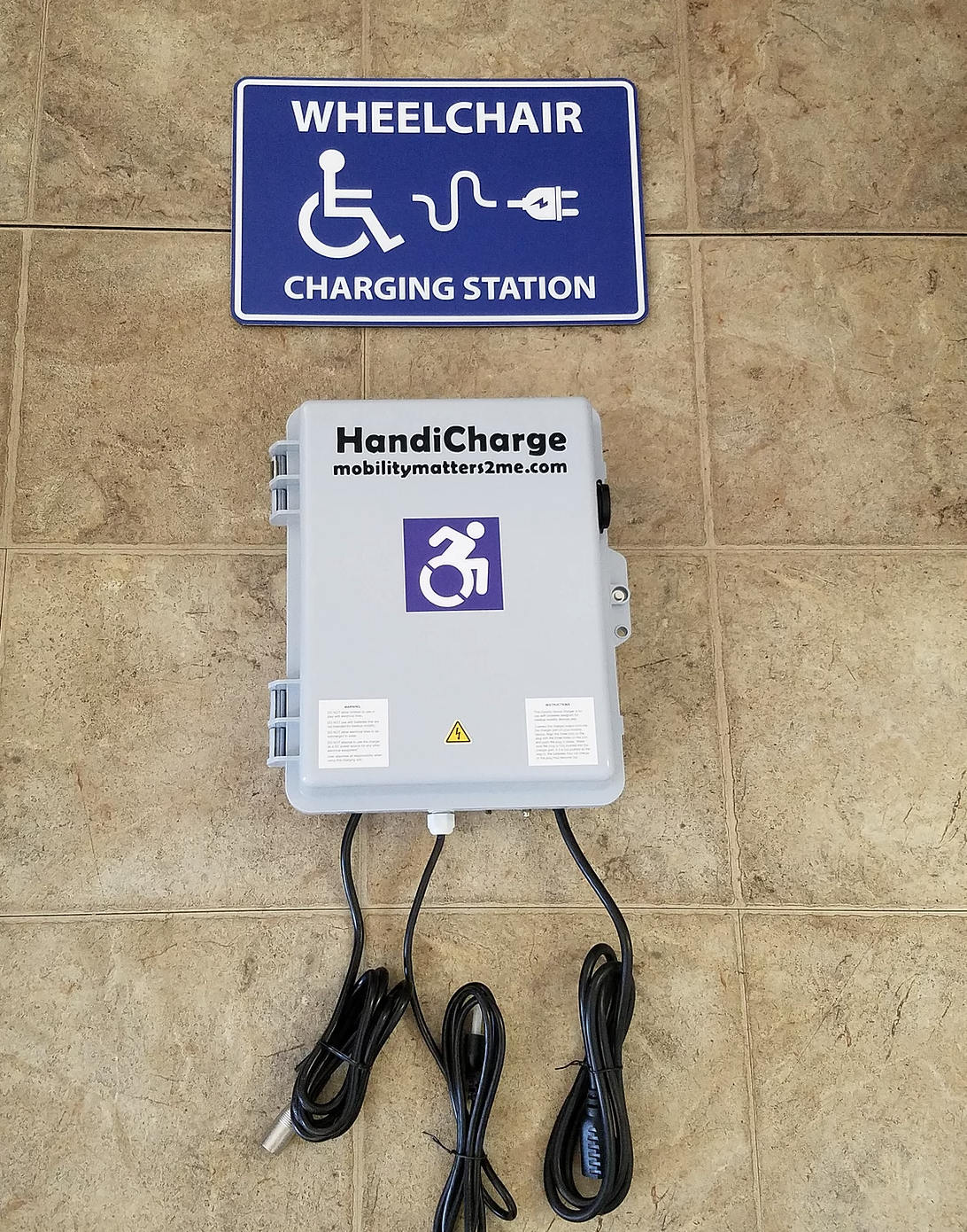 Electric wheelchair charging stations