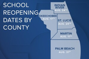 2020-21 School Reopening Dates by County 600x400