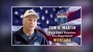 Tom Martin was honored at the memorial in Maryland