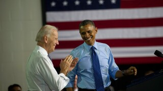 Obama, Biden headlining rallies in Las Vegas