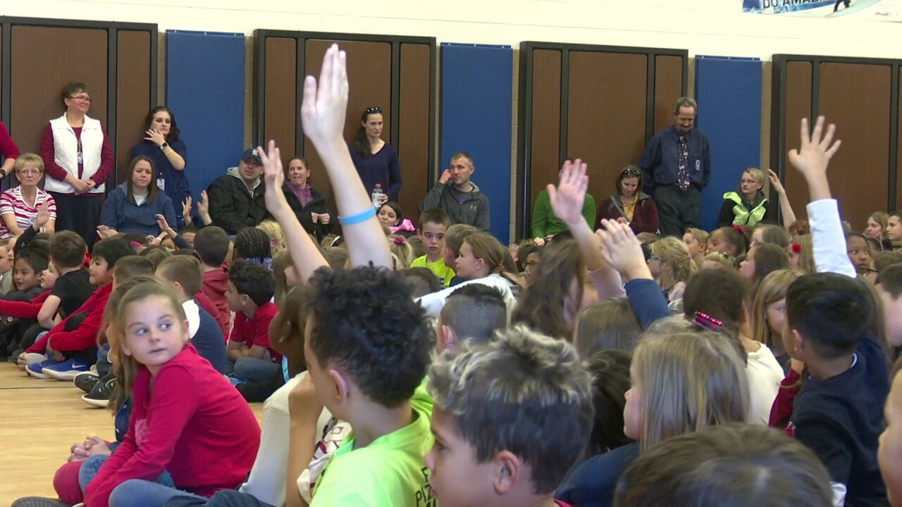 Great Falls elementary school celebrates military families