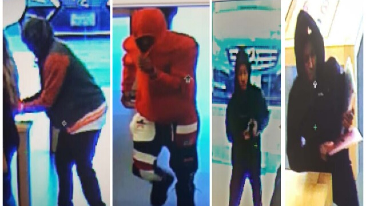 Suspects in Apple store 'grab and runs' sought