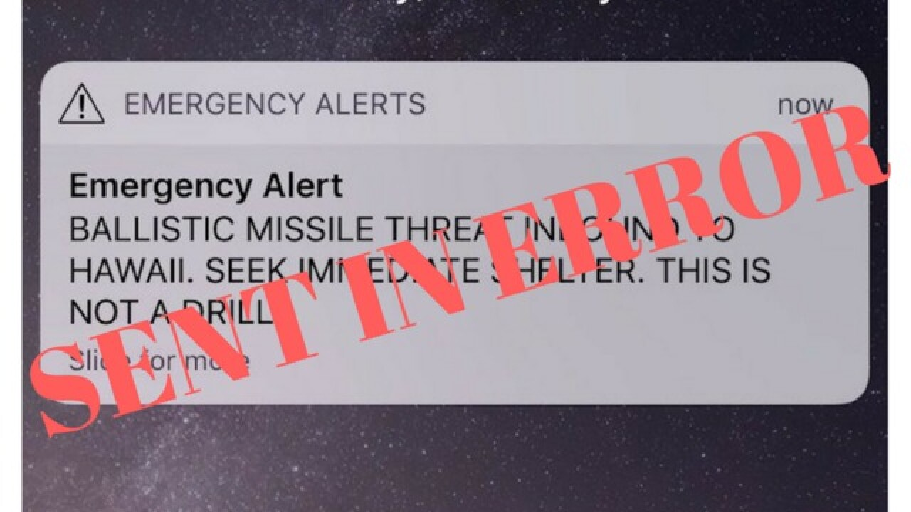 Hawaii residents mistakenly sent emergency message warning them to seek shelter from missile