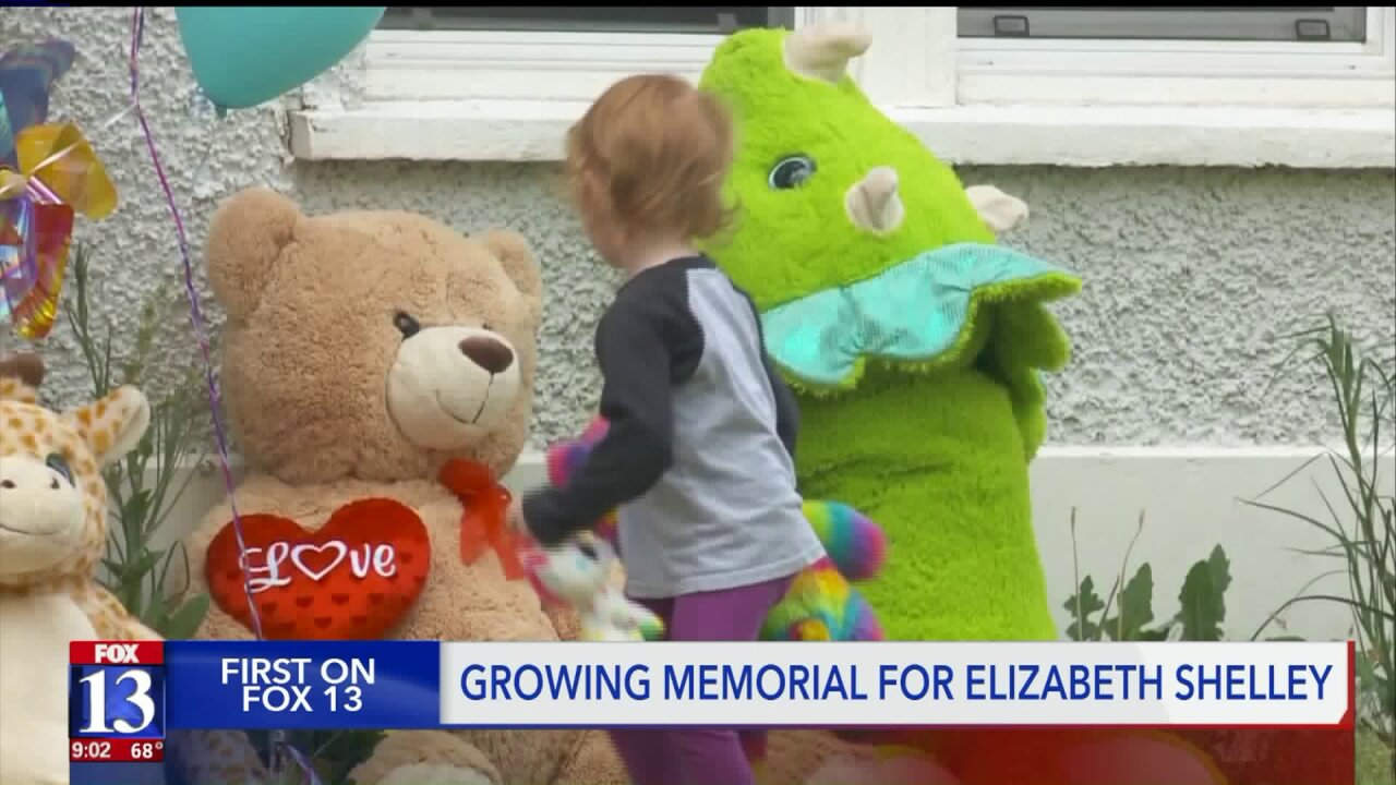 Makeshift memorial for Elizabeth Shelley continues to grow, dozens stop to pay respects