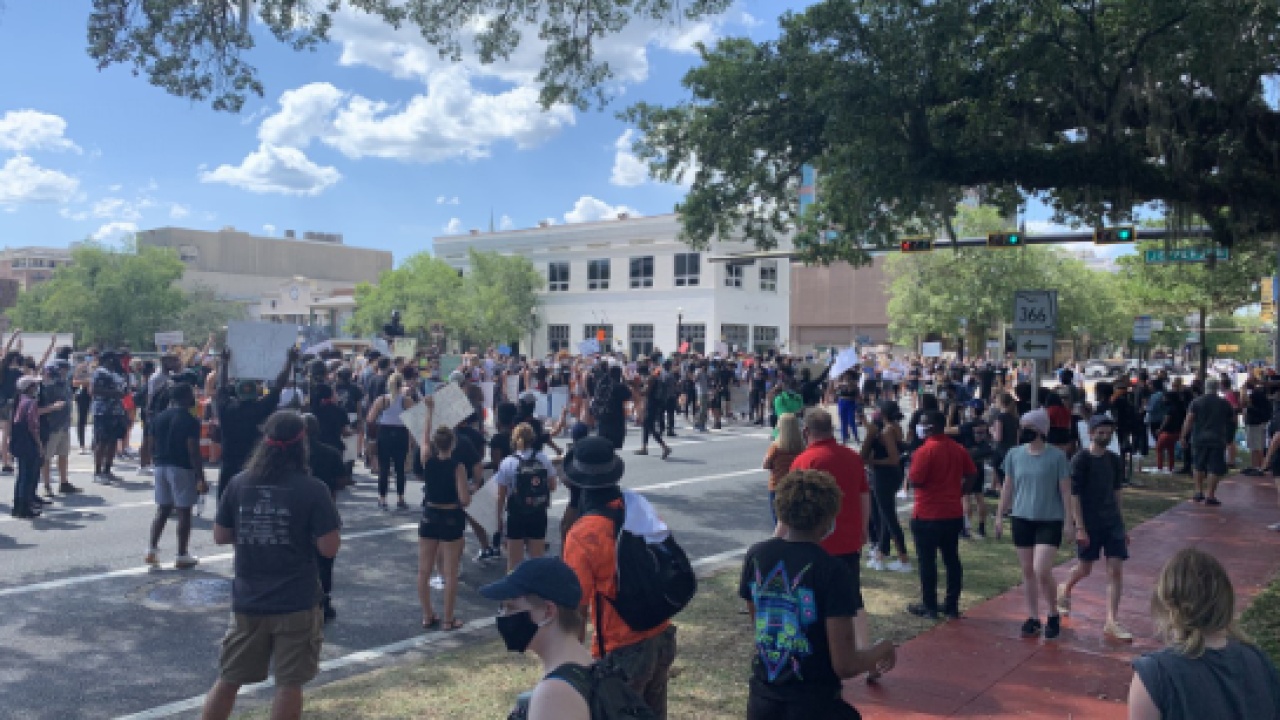 Peaceful protests continue in Tallahassee