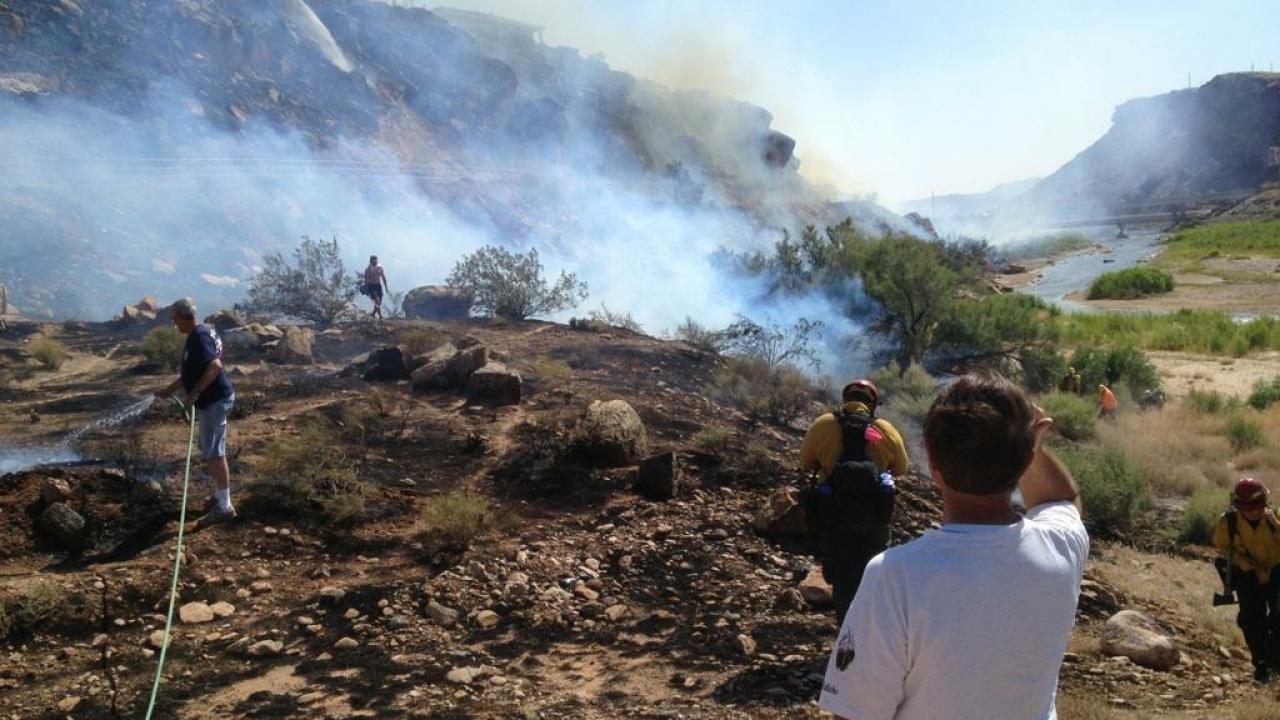 Bloomington Hills brush fire undercontrol