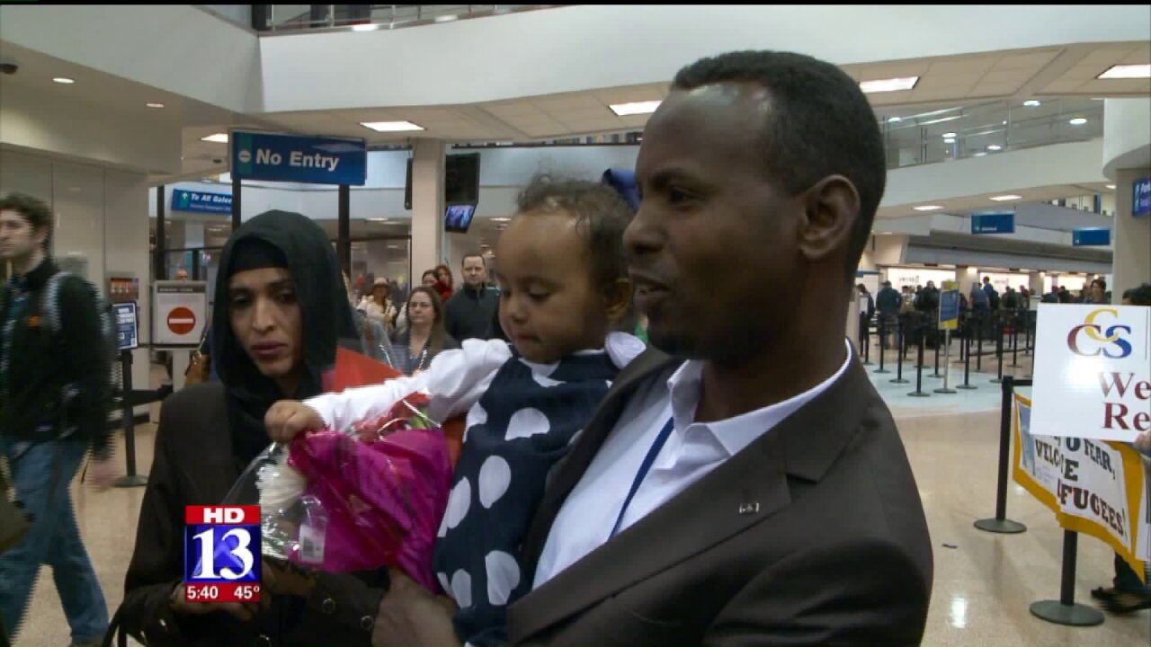 Somali refugee reunites with family in Utah after being in limbo