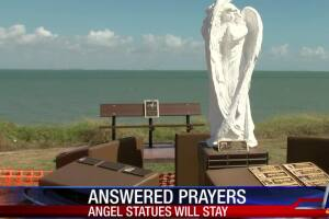 Angels will remain at the Nueces County Victims Memorial Gardens will remain
