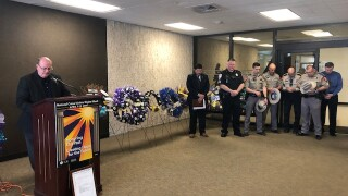 Families and agencies gather at Courthouse for National Crime Victims Week