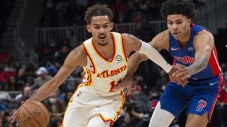 Trae Young Killian Hayes Pistons Hawks Basketball
