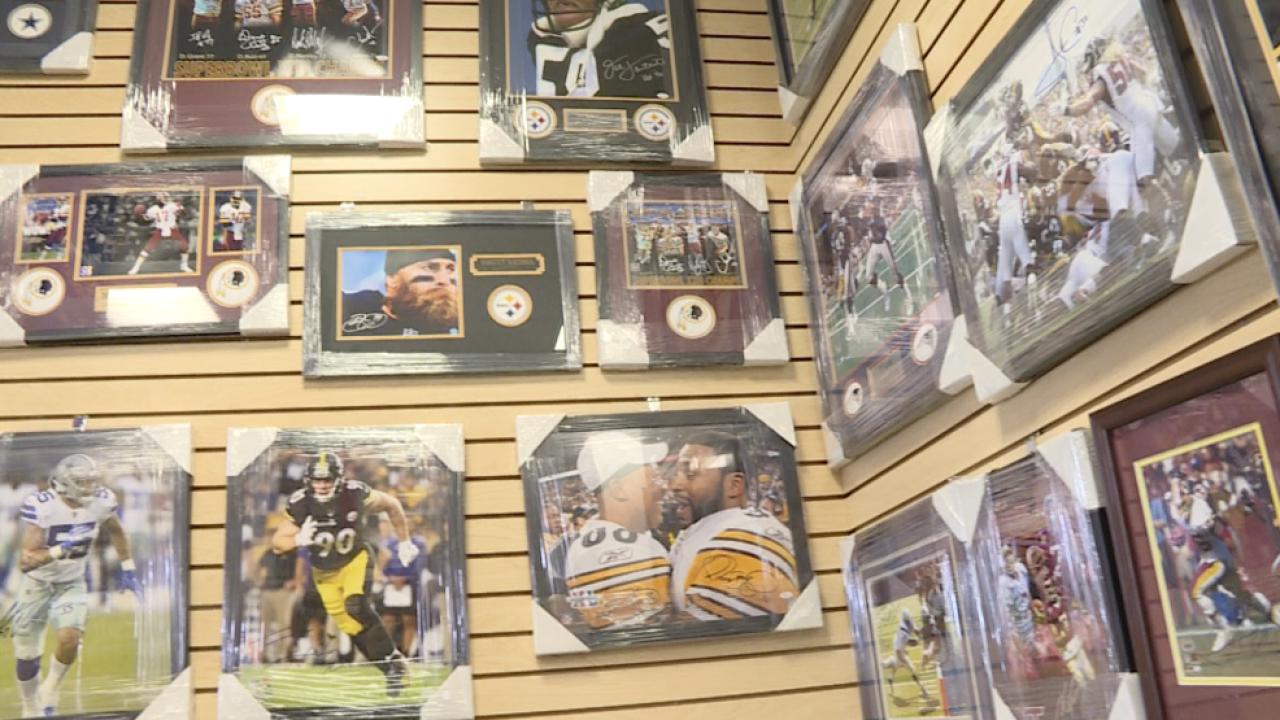 Sports memorabilia shops