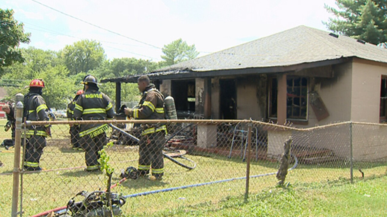 Lawn Mower Causes Fire; Home Destroyed On Osage Street