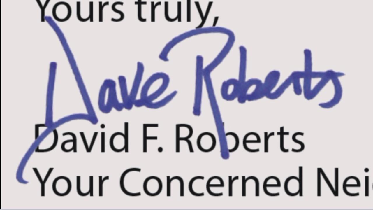 David Roberts signature
