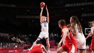 Wilson, Stewart post double-doubles as USA women surge past Japan