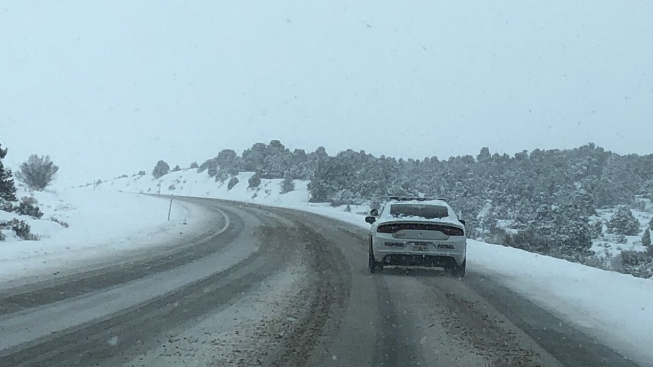 Snow makes for slick roads in portions of northern Utah Tuesday, more snow possibleWednesday