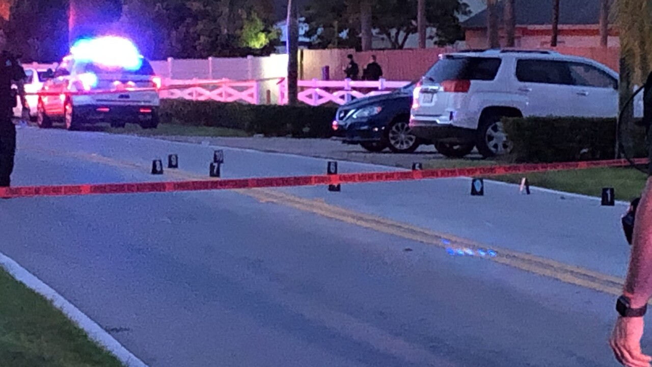Five people were shot at a private park in the Concept Homes Development near Lake Worth Beach Tuesday night.