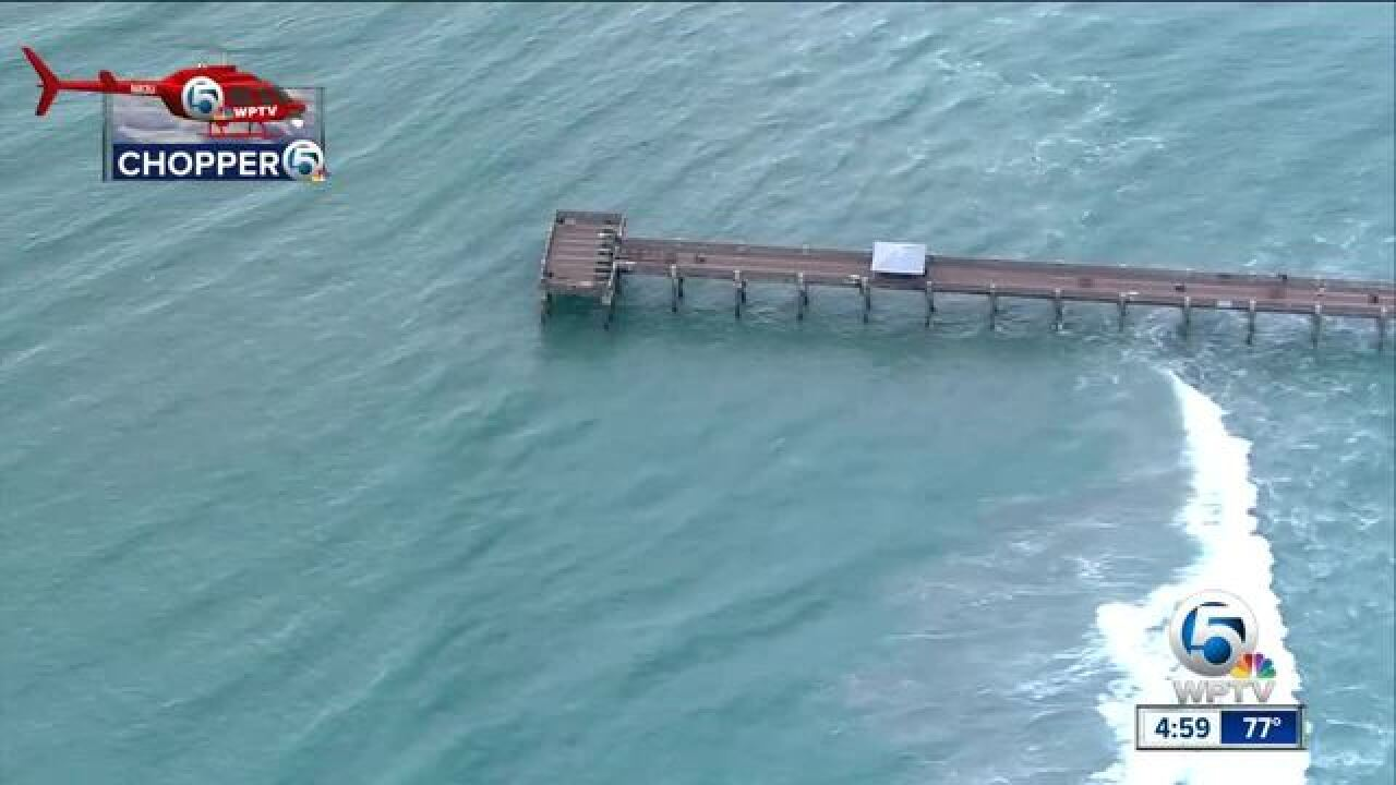 Juno, Lake Worth piers damaged by rough surf
