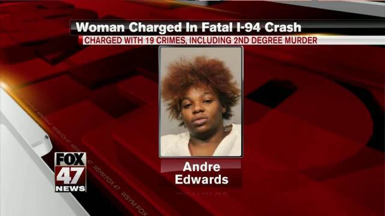 Driver in fatal crash facing 19 felonies