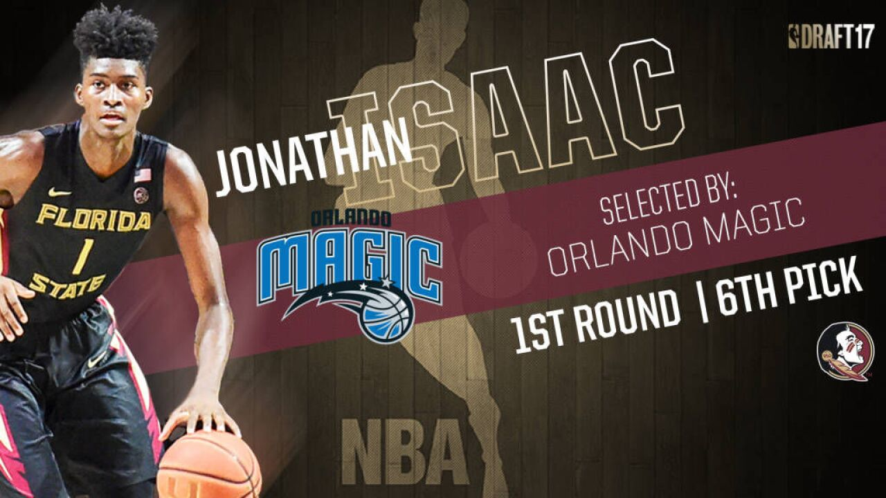 Isaac Picked No  6 In First Round By Orlando Magic