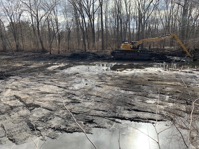 The dredging project at Wenke Park. It's expected to remove 4,000 of an estimated 450,000 cubic yards of sediment and critics say it's not enough of an effort.