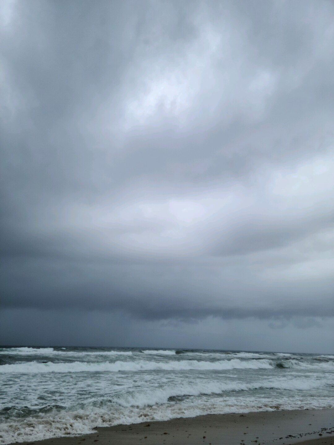 A view of Delray Beach on Saturday afternoon as Hurricane Isaias approaches.