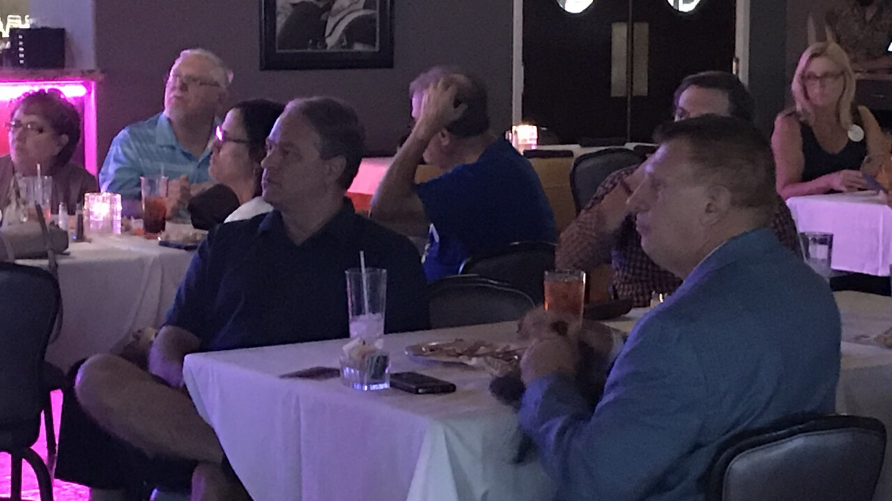 Supporters for both presidential candidates watched as the vice presidential nominees went head to head in a debate Wednesday night.