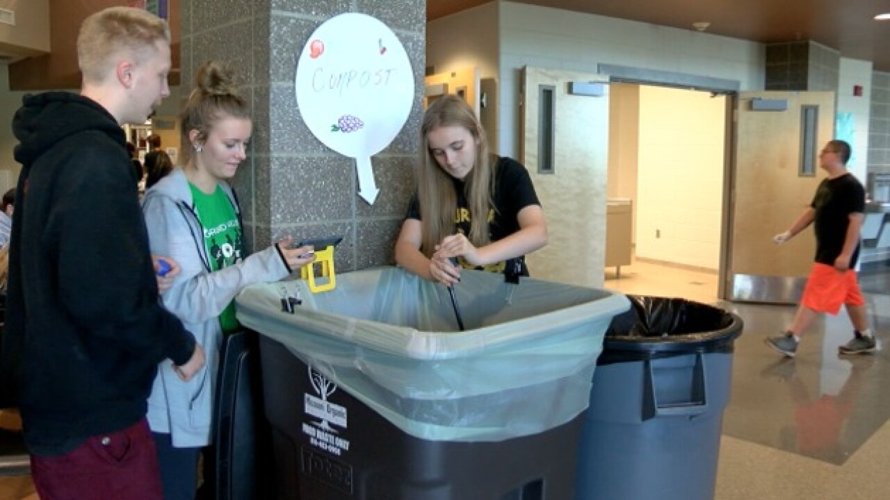 Turner High students reducing lunchroom waste