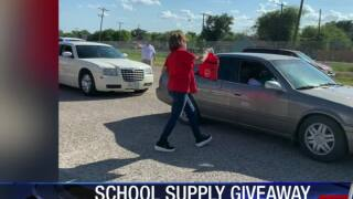 Robstown ISD back to school giveaway supplies students