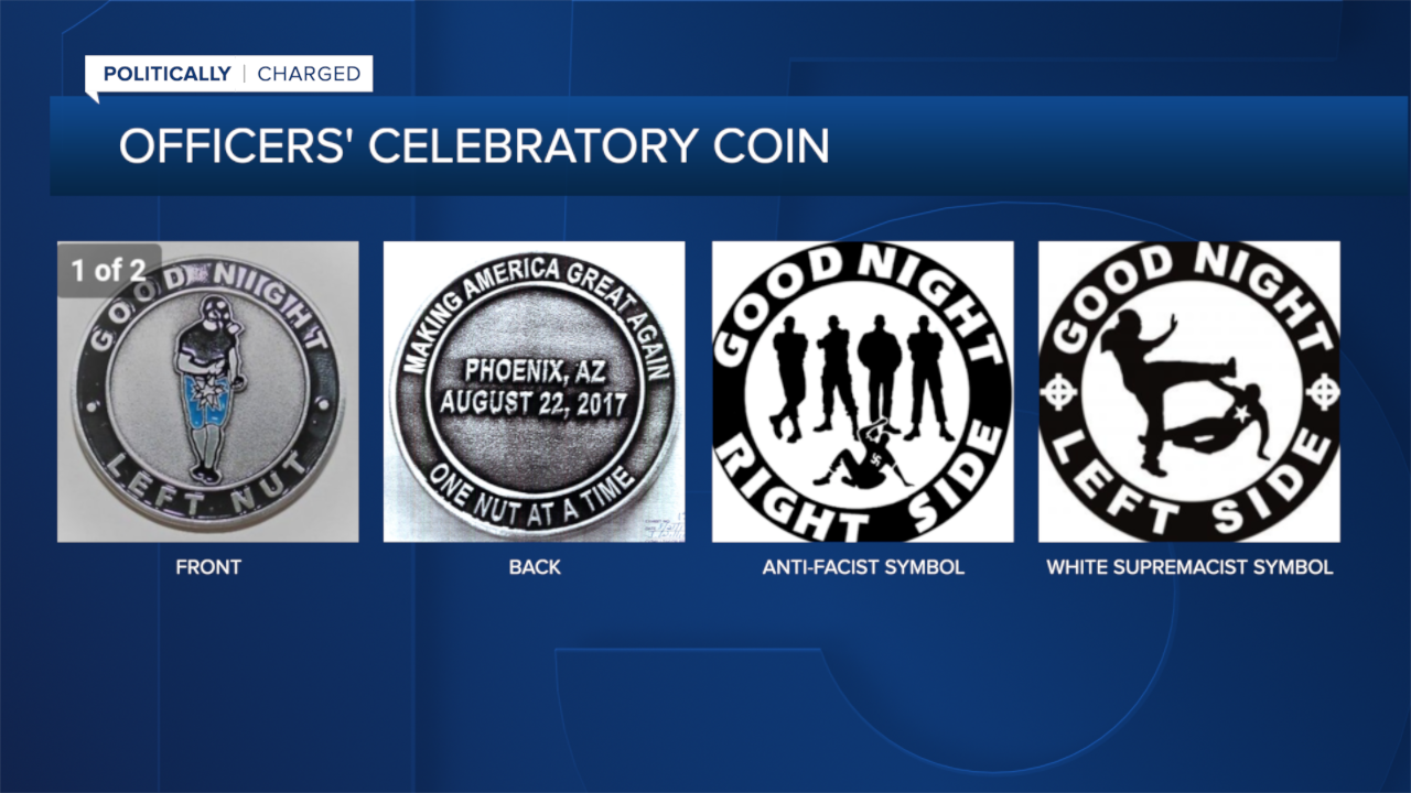 Four Challenge Coins