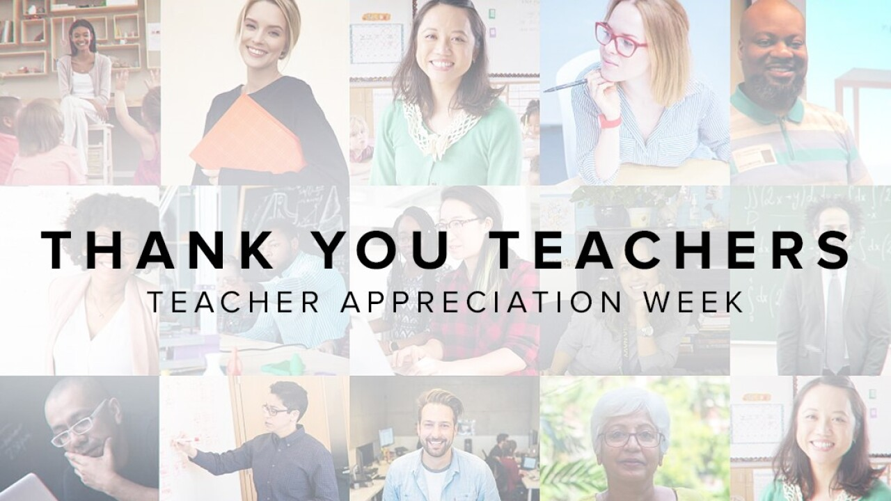 'Thank You Teachers Teacher Appreciation Week' graphic