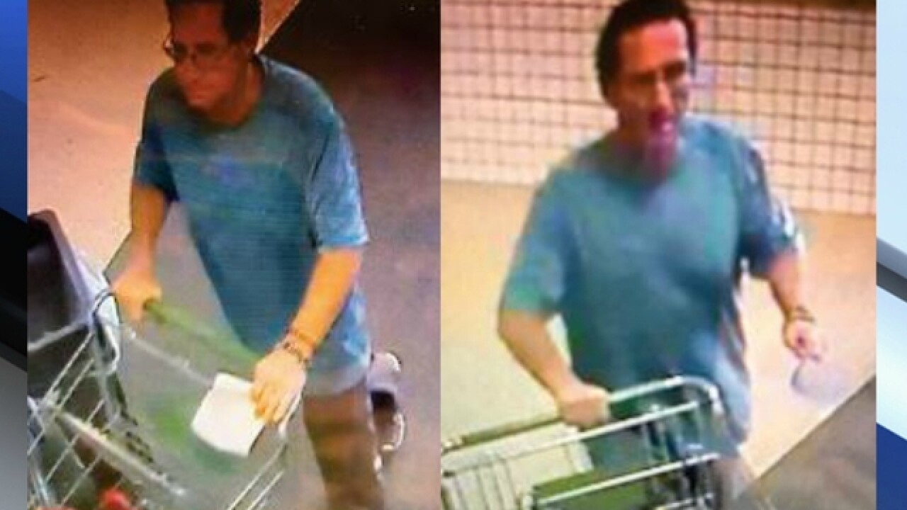 Man snatches woman's purse out of shopping cart at Publix