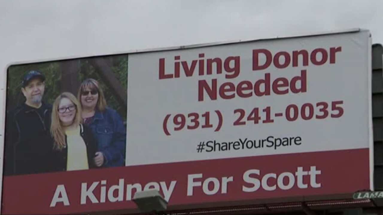 Desperate for kidney transplant, man uses SUV to find donor