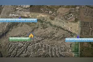 Bear Creek Fire Map
