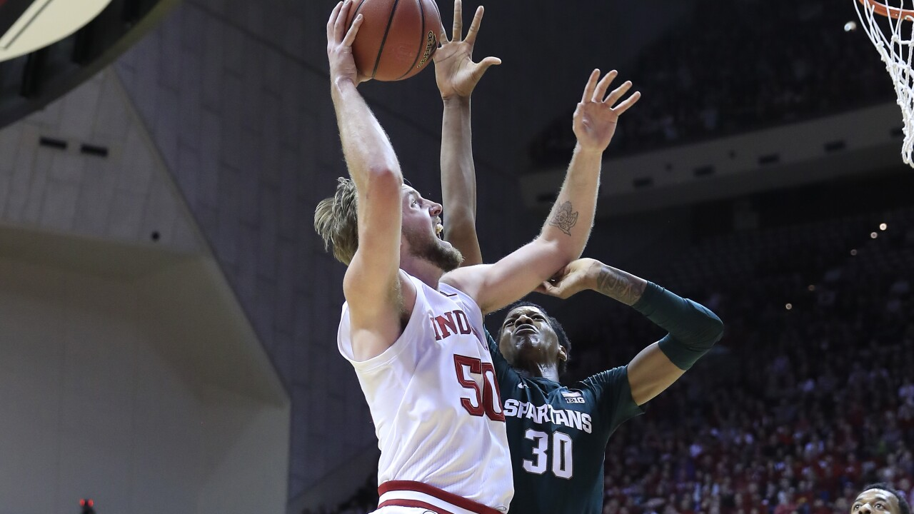 Indiana uses late charge to beat No. 11 Michigan State