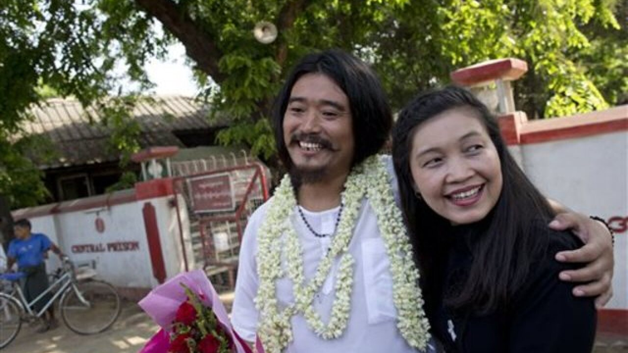 Prominent political prisoner freed in Myanmar