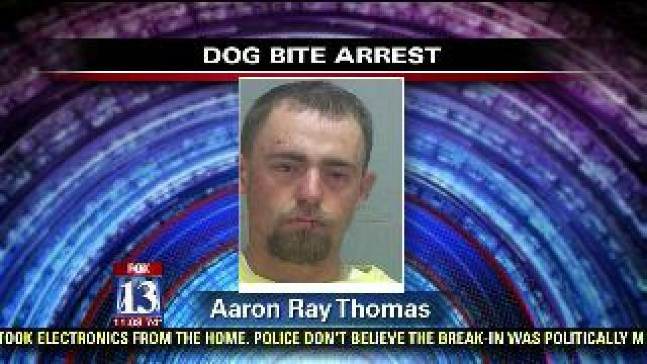 Police arrest man who allegedly had dog attack officer