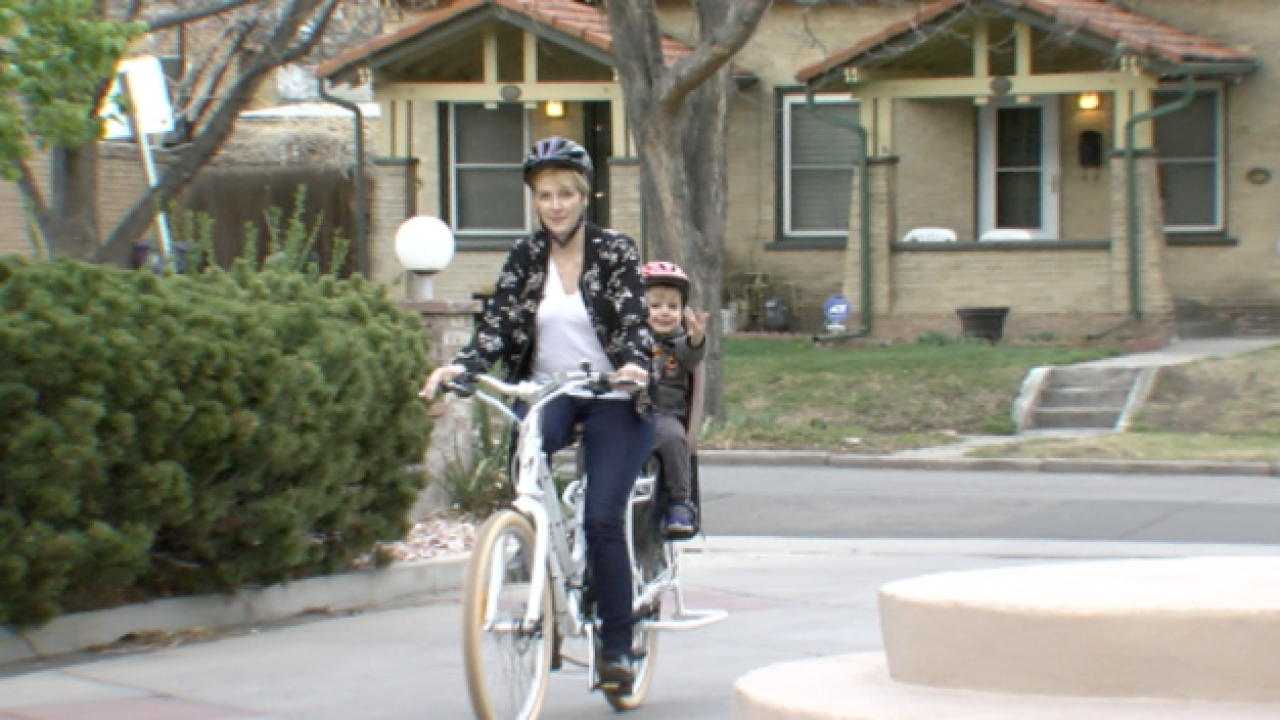 Can bicyclists in Denver ride on the sidewalks?