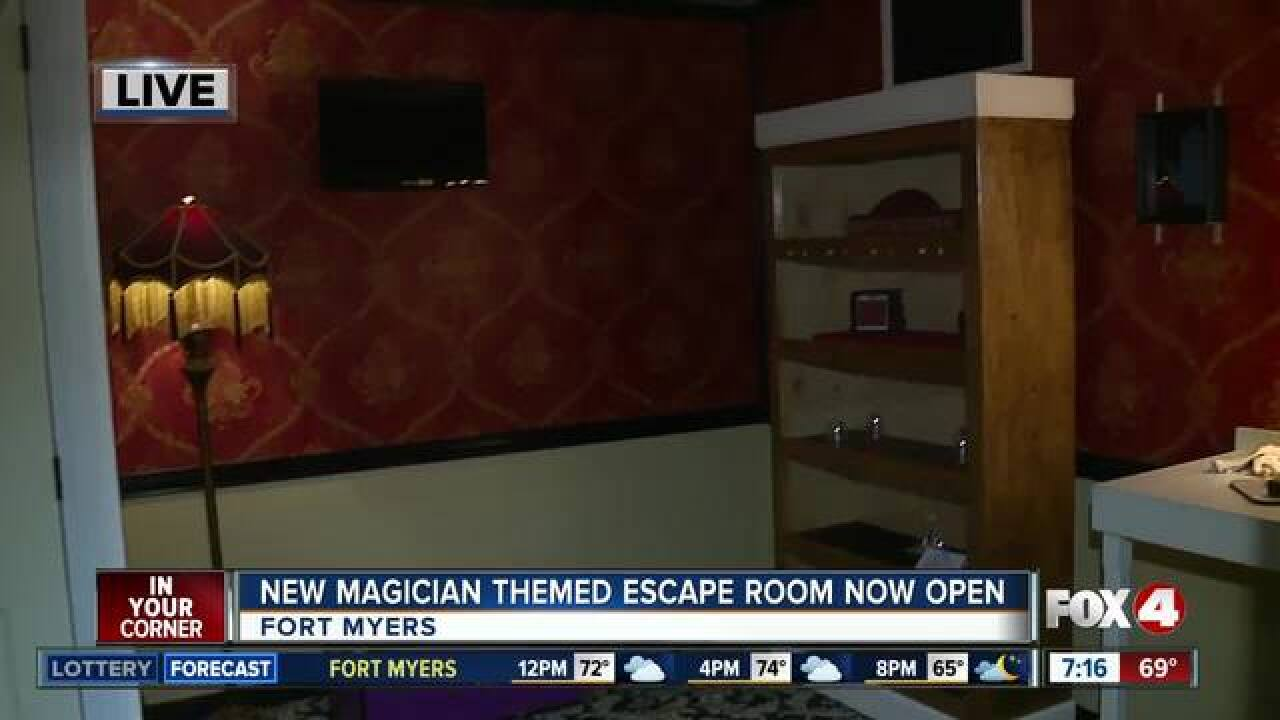 New magician themed escape room opens