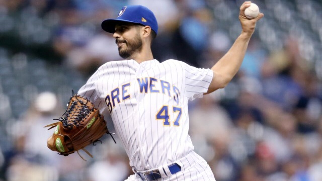 Brewers name starters for first three NLCS games