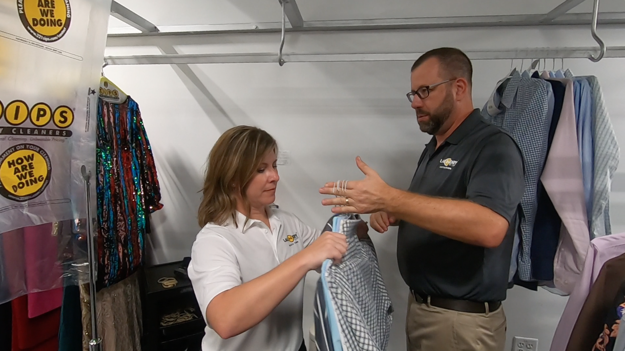 Elizabeth and Mike Montante, owners of ZIPS Dry Cleaners