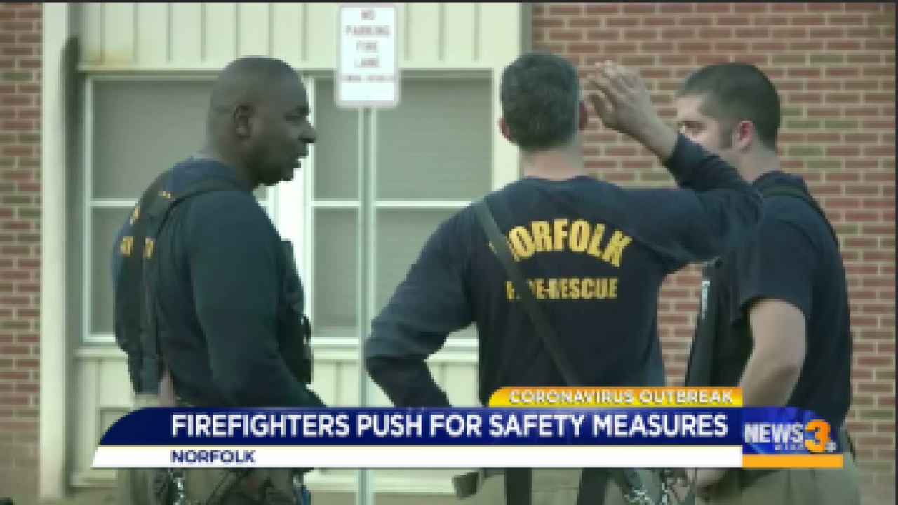 Local firefighter pushing for more protection from the deadly virus