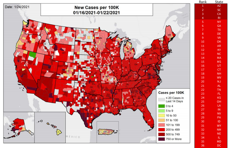 new cases az map