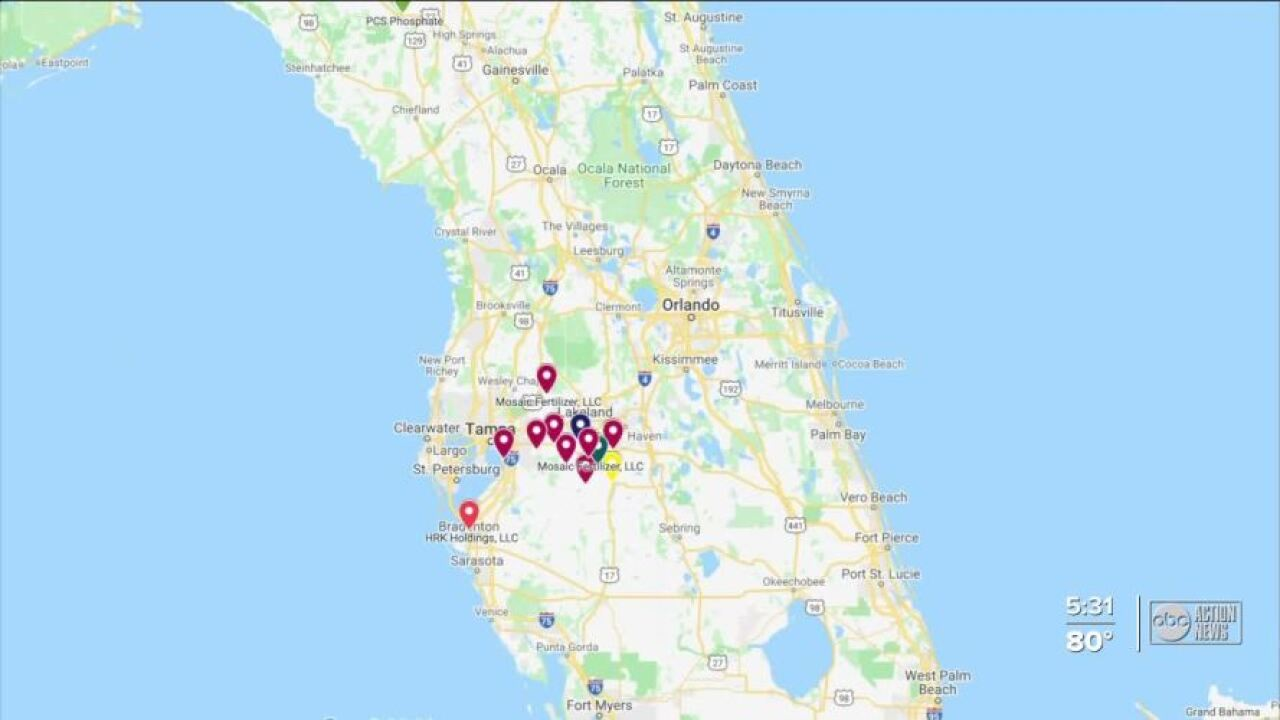 Gypsum stacks in Florida